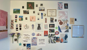dorm room art collage